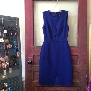 BCBG Cobalt Blue Cutout Dress